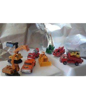 9 Piece of Antique Construction Vehicles
